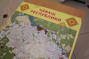 Chuvash Map of Chuvash Republic